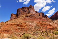 Rock canyon butte outside arches national park moab utah Stock Photos