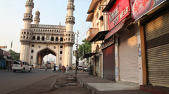 Heritage Construction Charminar Stock Footage