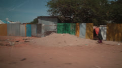 Street scene in Mogadishu, Somalia Stock Footage