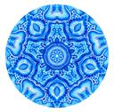 Stock Illustration of watercolor gzhel. doily round lace pattern, circle background with many detai