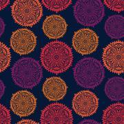 Retro background, lace seamless pattern Stock Illustration