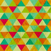 pattern of geometric shapes. triangles.texture with flow of spectrum effect.  - stock illustration