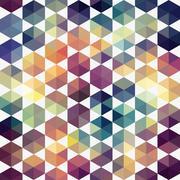 Triangles pattern of geometric shapes. colorful mosaic backdrop. geometric hi Stock Illustration