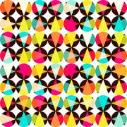 Pattern of geometric shapes.texture with flow of spectrum effect. geometric b Stock Illustration