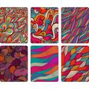 Stock Illustration of fashion tablet skins. modern abstract backgrounds with wave lines to customiz