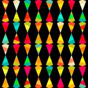 pattern of geometric shapes.texture with flow of spectrum effect. geometric b - stock illustration