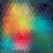 Triangles pattern of geometric shapes. colorful mosaic backdrop. geometric hi Stock Illustration