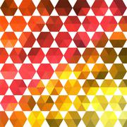 triangles pattern of geometric shapes. colorful mosaic backdrop. geometric hi - stock illustration
