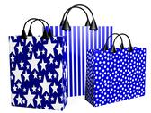 Stock Illustration of 3d festive blue shopping bags