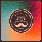 Hipster background made of triangles. retro label design. square composition  Stock Illustration
