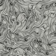 raster seamless texture with abstract waves. endless background. ethnic seaml - stock illustration