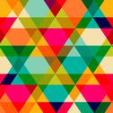 Stock Illustration of pattern of geometric shapes. triangles.texture with flow of spectrum effect.
