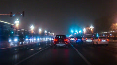 Driving the most widest and longest Chang'an Avenue in the world Beijing, Stock Footage