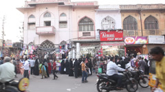 Outdoor shot of old monument Charminar Stock Footage