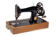 Old sewing machine. Stock Photos