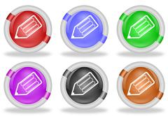 Stock Illustration of pencil write web icon buttons