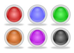 shiny blank web buttons with beveled frames - stock illustration