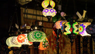 Stock Video Footage of Moroccan Lamp Light