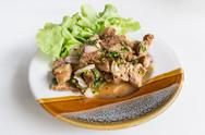Stock Photo of spicy pork salad thai food of thailand