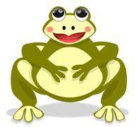 The beautiful fat frog Stock Illustration