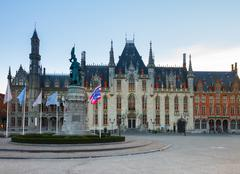 city hall of brugge - stock photo