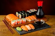 Stock Photo of still life with sushi
