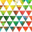 Stock Illustration of geometric pattern of triangles shapes. colorful mosaic backdrop. geometric hi