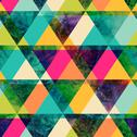 Stock Illustration of watercolor triangles seamless pattern. modern hipster seamless pattern. color