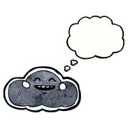 Stock Illustration of cloud with thought bubble
