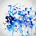 Stock Illustration of vector watercolor texture. blue grunge paper template. water. wet paper. blob