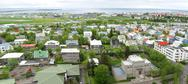 Stock Photo of Aerial view of Reykjavik, capital city of Iceland.