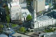 Stock Photo of aerial view of auckland town hall new zealand nz