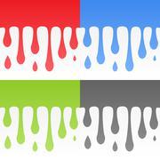 vector flowing background set - stock illustration