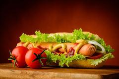 Stock Photo of traditional hotdog
