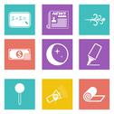 Stock Illustration of Icons for Web Design and Mobile Applications set 8