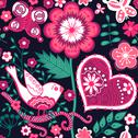 Stock Illustration of seamless floral pattern. copy square to the side and you'll get seamlessly ti