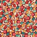 Stock Illustration of seamless texture with geometric shapes, mosaic endless pattern