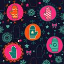 Stock Illustration of mitten seamless pattern. copy square to the side and you'll get seamlessly ti