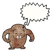 Stock Illustration of big loud friendly bear cartoon