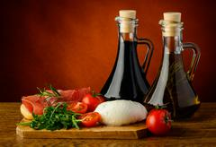 Mediterranean food Stock Photos