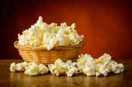 Stock Photo of traditional homemade popcorn