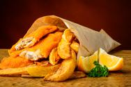 Stock Photo of traditional fish and chips