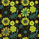 Stock Illustration of seamless floral texture. copy that square to the side and you'll get seamless