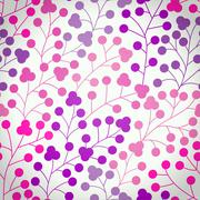Seamless pattern with leaf. copy that square to the side and you'll get seaml Stock Illustration
