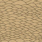seamless waves texture,wavy background.copy that square to the side and you'l - stock illustration