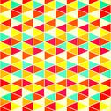 Stock Illustration of seamless geometric pattern with geometric shapes, rhombus, colorful zigzags,