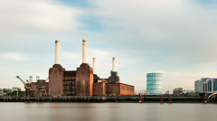Battersea Power Station Long Exposure Time Lapse, London Stock Footage