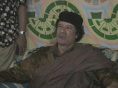 Muammar al-Gaddafi - stock footage