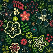 Seamless floral texture. copy that square to the side and you'll get seamless Stock Illustration