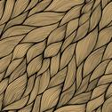Stock Illustration of seamless abstract hand-drawn pattern, waves background